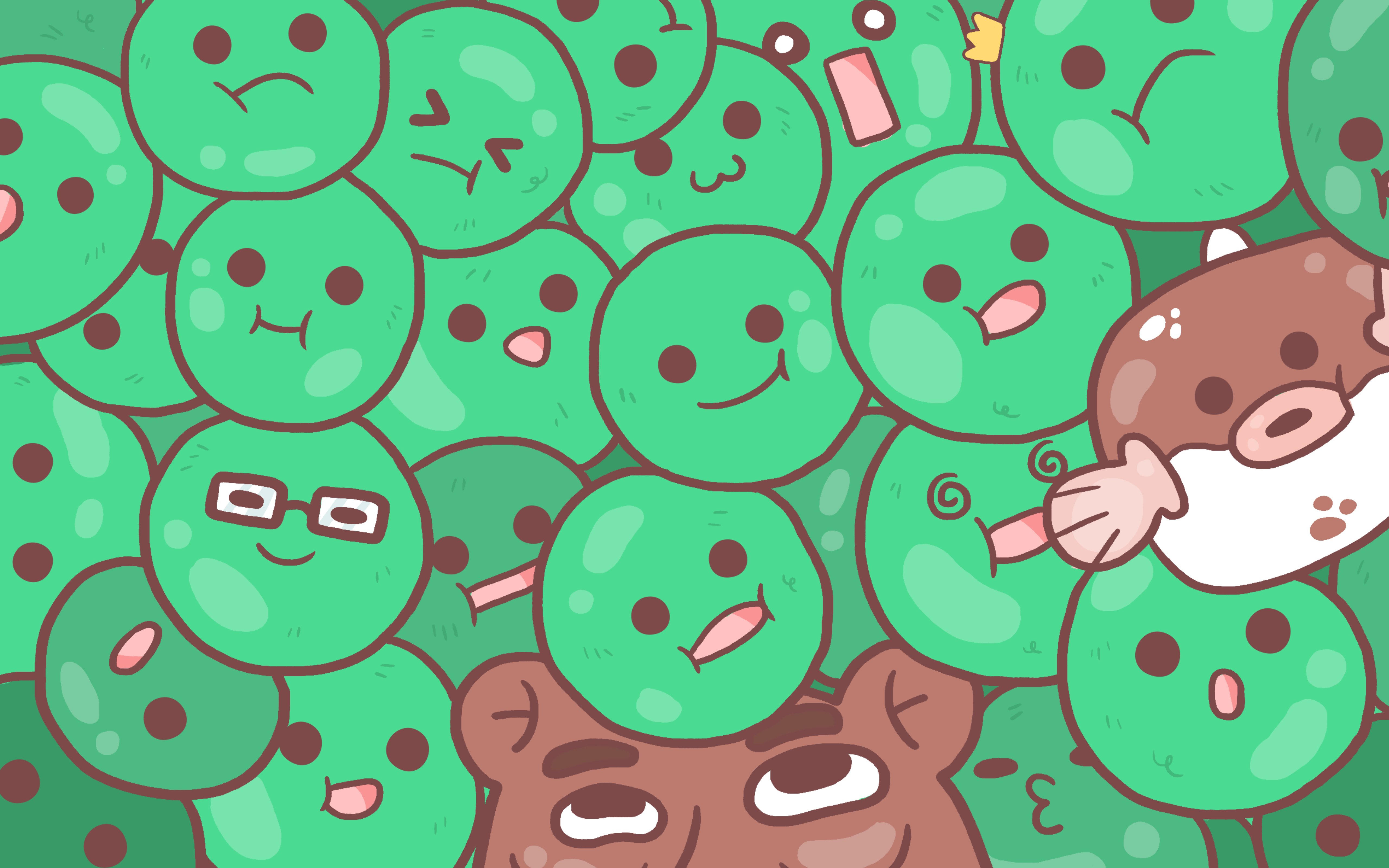 Algae clipart happy. Marimo the pet with