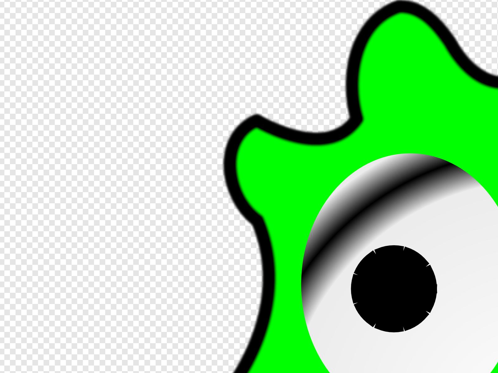 Green clip art icon. Algae clipart happy