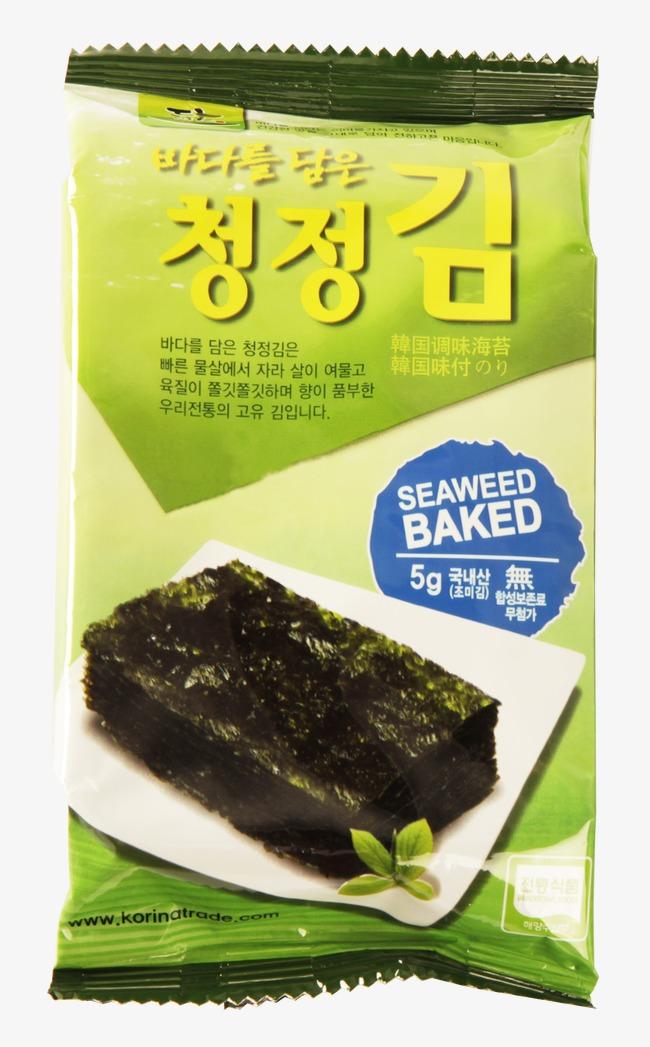 Package snacks png image. Algae clipart seaweed food