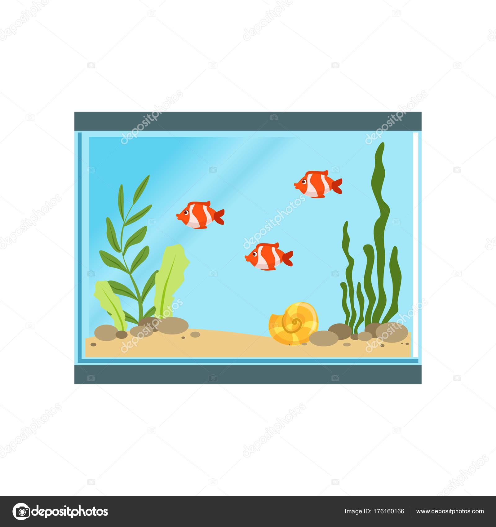 Aquarium clipart rectangular aquarium. Icon of glass with