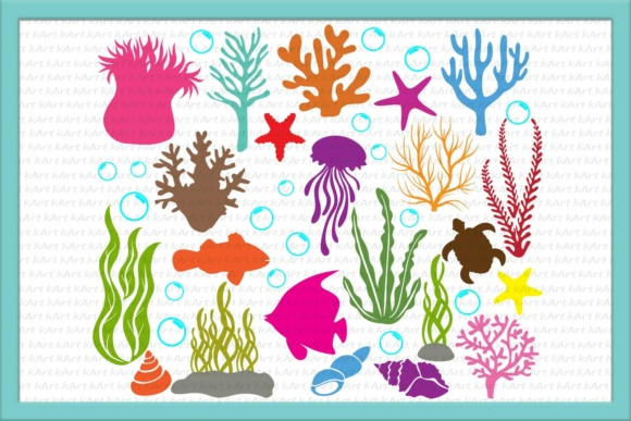 Algae clipart under sea. The svg coral bubbles