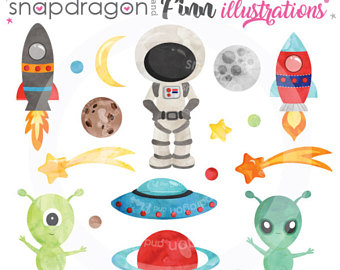 Alien etsy space outer. Aliens clipart baby