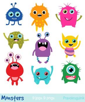 Monster clipart alein. Little monsters clip art