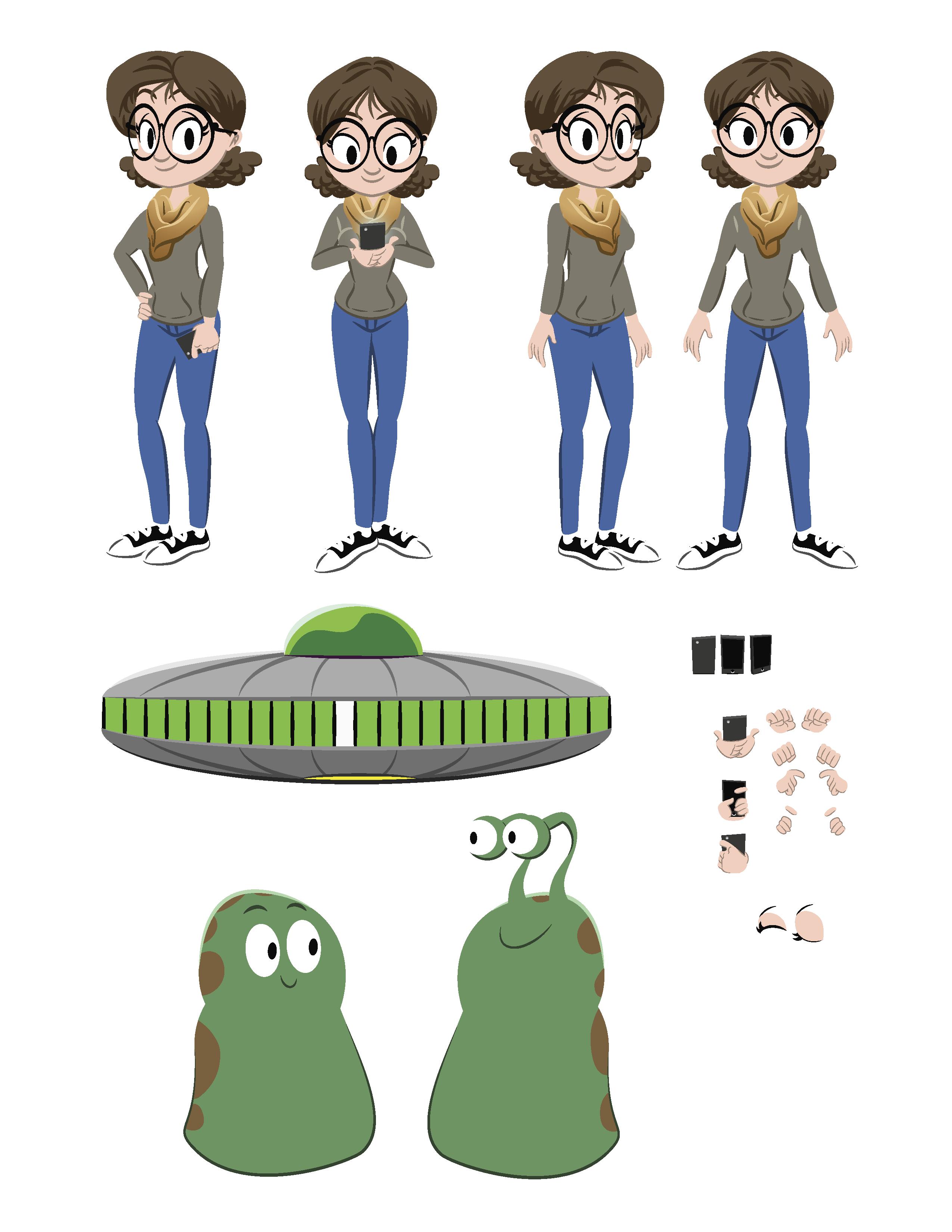 Animation billdrastal com character. Alien clipart alien abduction