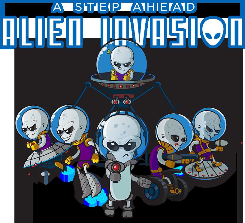 Alien clipart alien invasion. A step ahead corporate
