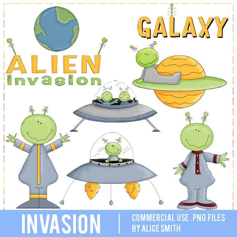 Commercial use clip art. Alien clipart alien invasion