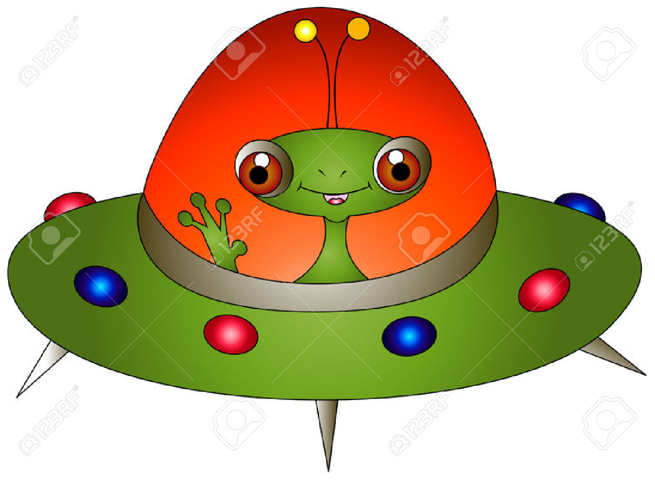 Spaceship clipart green alien.  collection of cute