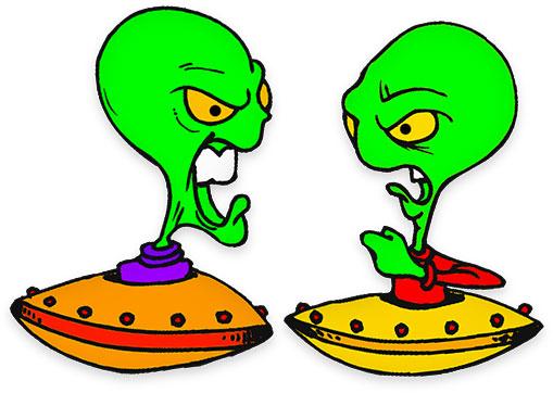 alien clipart animated