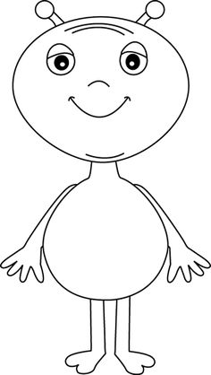 Alien clipart black and white. Free reading cliparts download