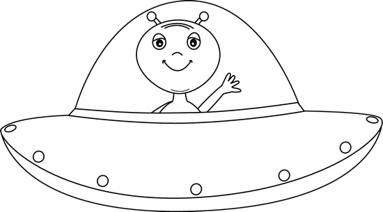 Pin on space theme. Alien clipart black and white