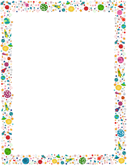 Free space border cliparts. Planets clipart frame