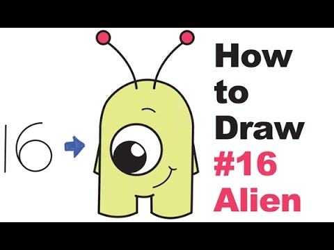 How to draw cute. Alien clipart easy