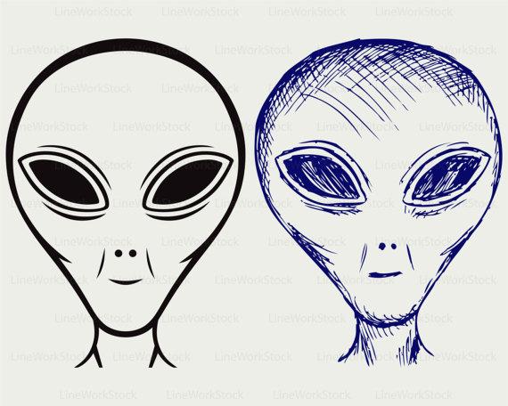 Alien ufo face svg. Aliens clipart extraterrestrial
