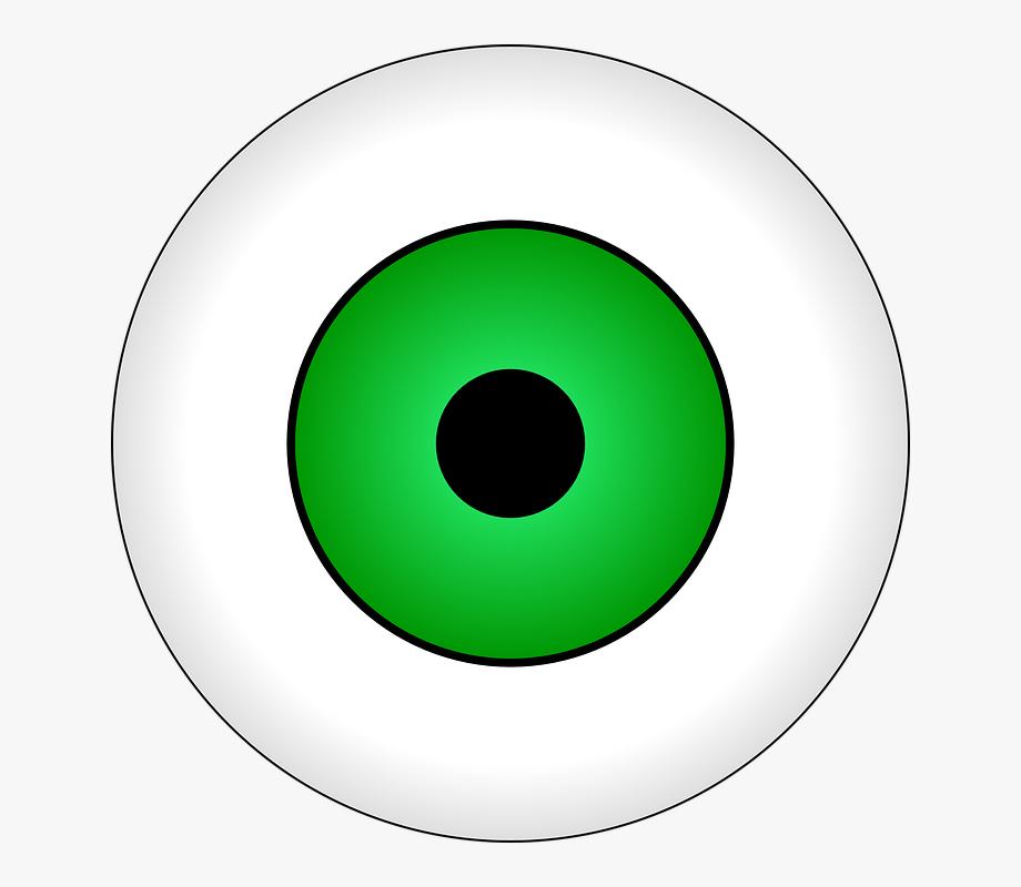 Green eyes eye cartoon. Eyeballs clipart alien