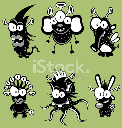 Alien clipart goblin. Cartoon monsters goblins ghosts