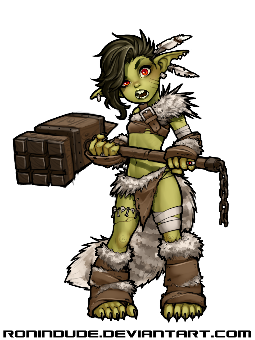 Evening drawing barbarian by. Aliens clipart goblin