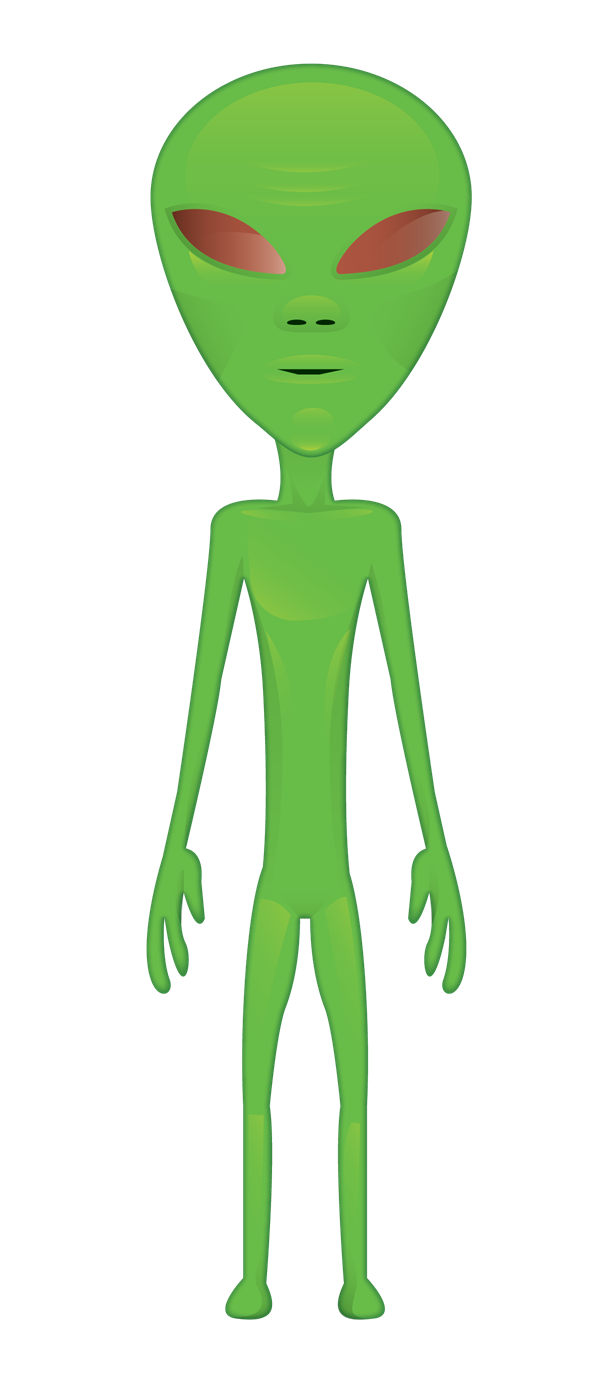 This skinny alien clip. Aliens clipart green