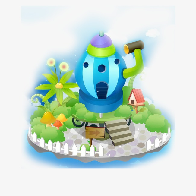 Cartoon png image and. Alien clipart house
