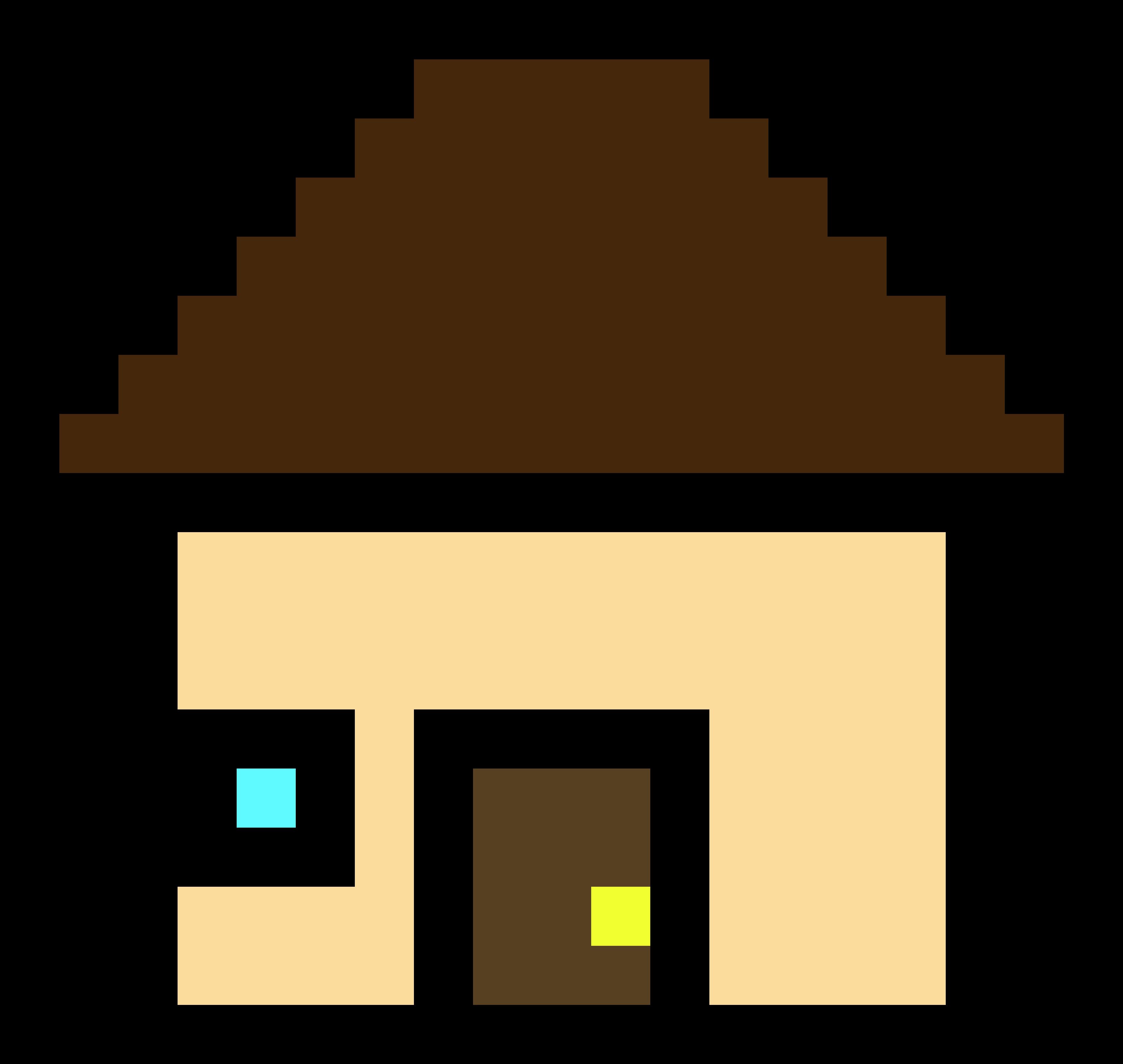 Pixel art transparent full. Alien clipart house