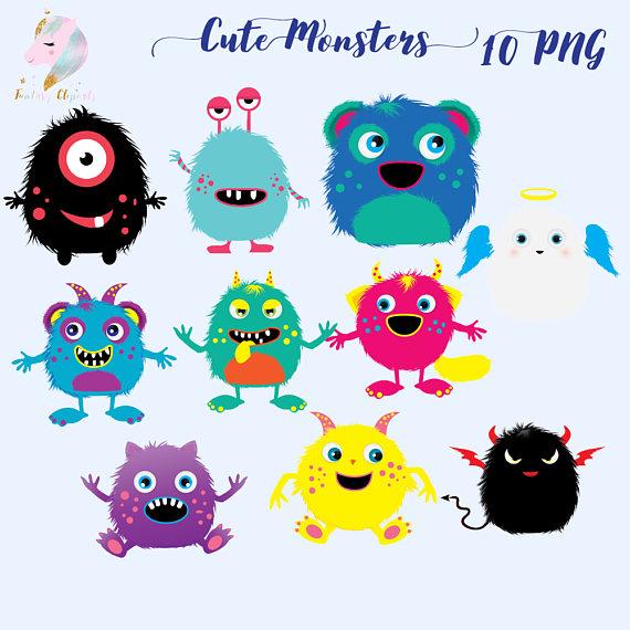 Cute monster monsters clip. Alien clipart kawaii