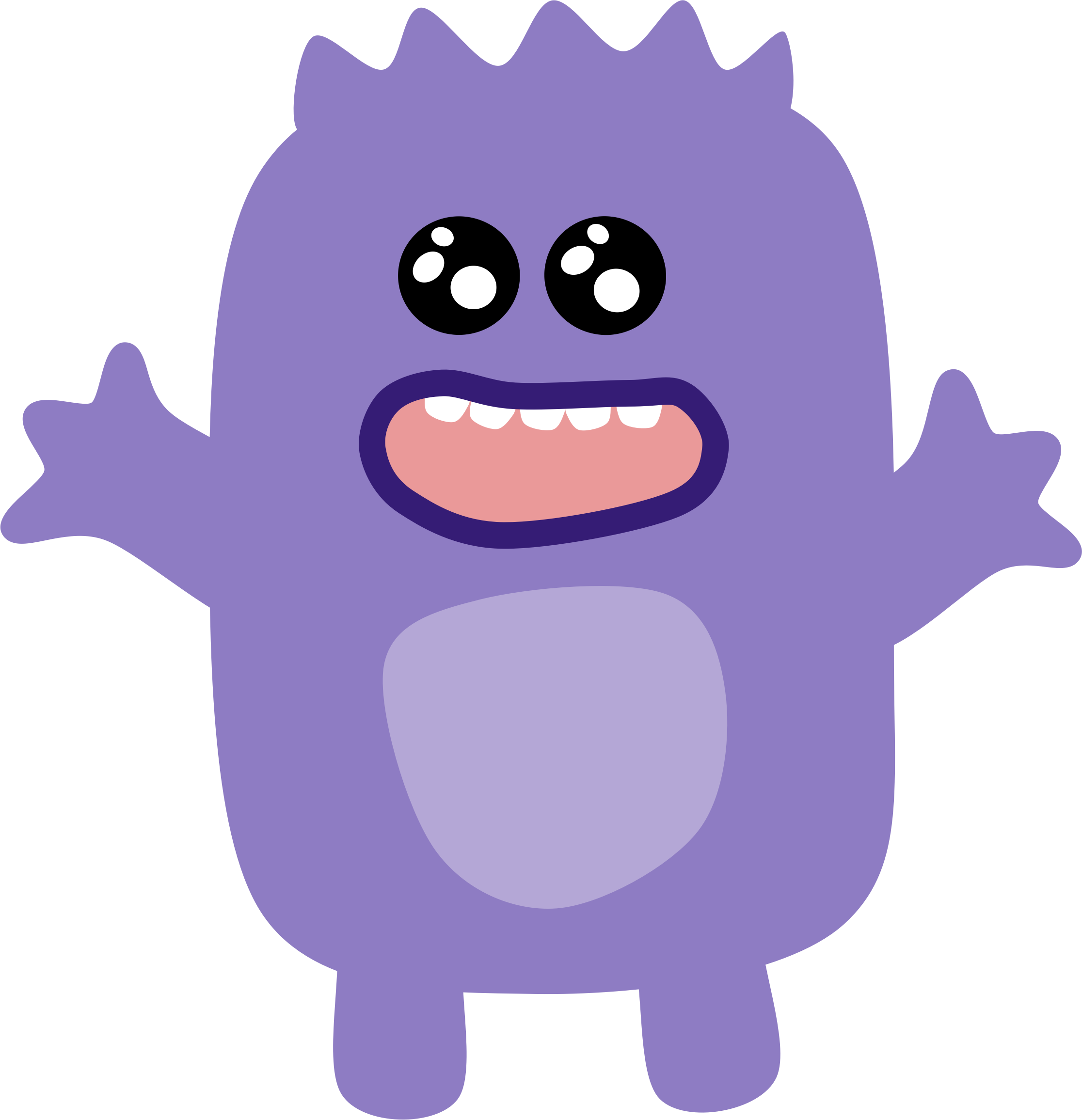 Yearbook clipart animated. Purple monster big image