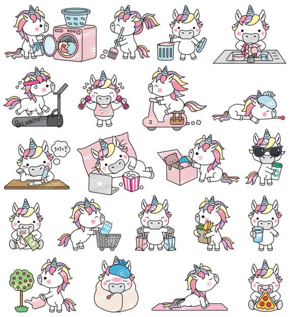 Premium vector unicorn cute. Alien clipart kawaii
