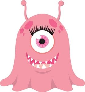 Monster clipart alein. Image happy female or