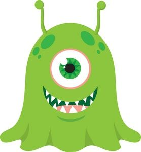 Alien clipart monster. Cute image baby