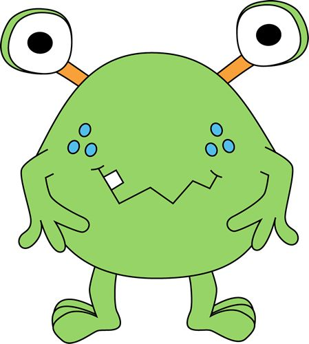 best space monsters. Aliens clipart lime green