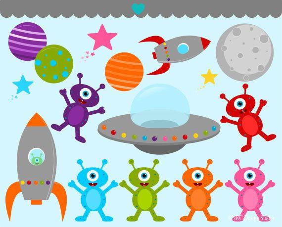 Aliens clipart alien body. Space clip art outer