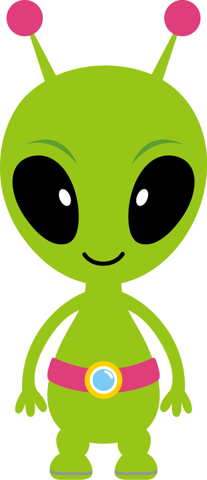 Aliens astronauts and spaceships. Clipart halloween alien