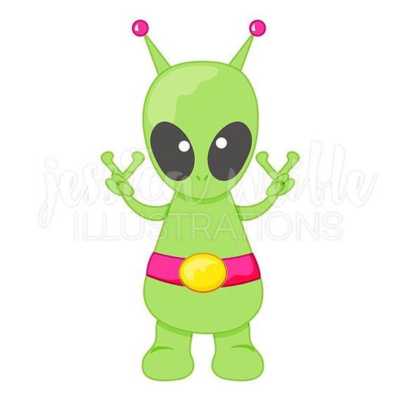 Alien clipart peace sign. Cute digital clip art