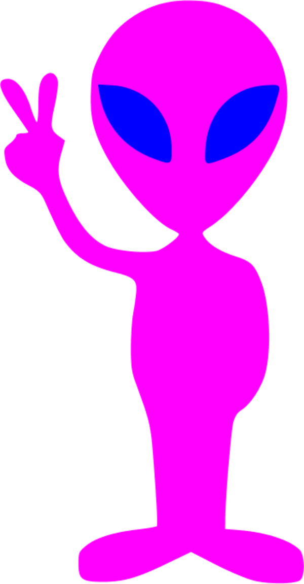 Alien station . Youtube clipart pink