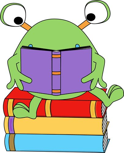 best monsters and. Alien clipart reading