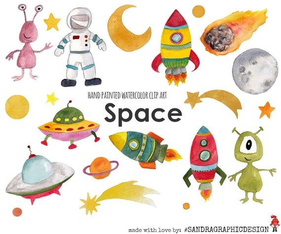 Space clip art rocket. Alien clipart reading