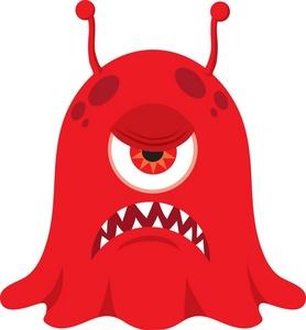 Mean alien . Monster clipart mad monster