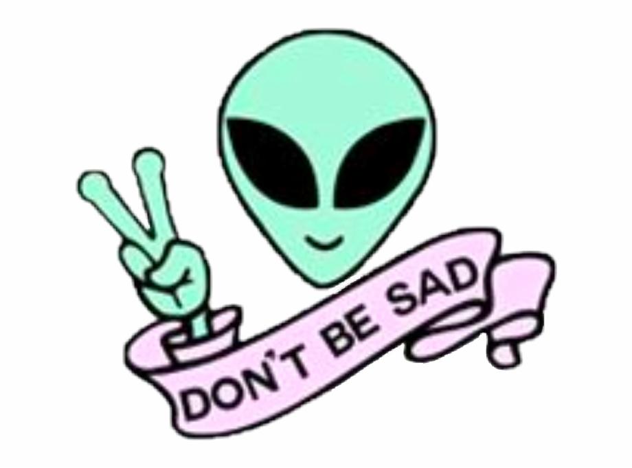 Alien clipart sad. Don t be clip