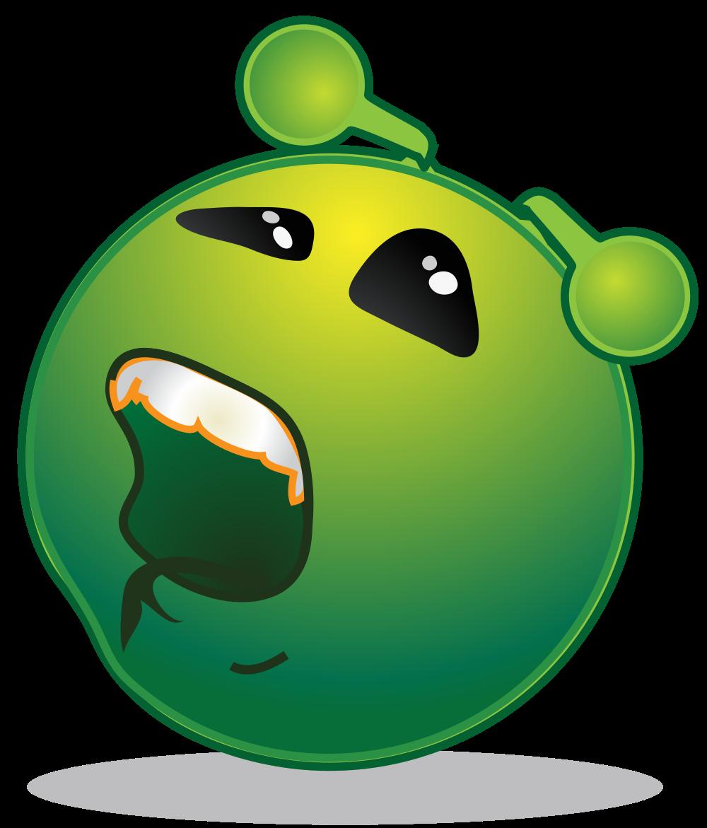 Alien clipart sad. File smiley green bored