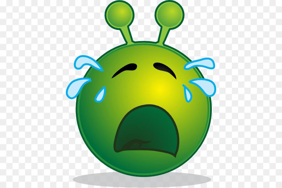 Smiley emoticon clip art. Alien clipart sad