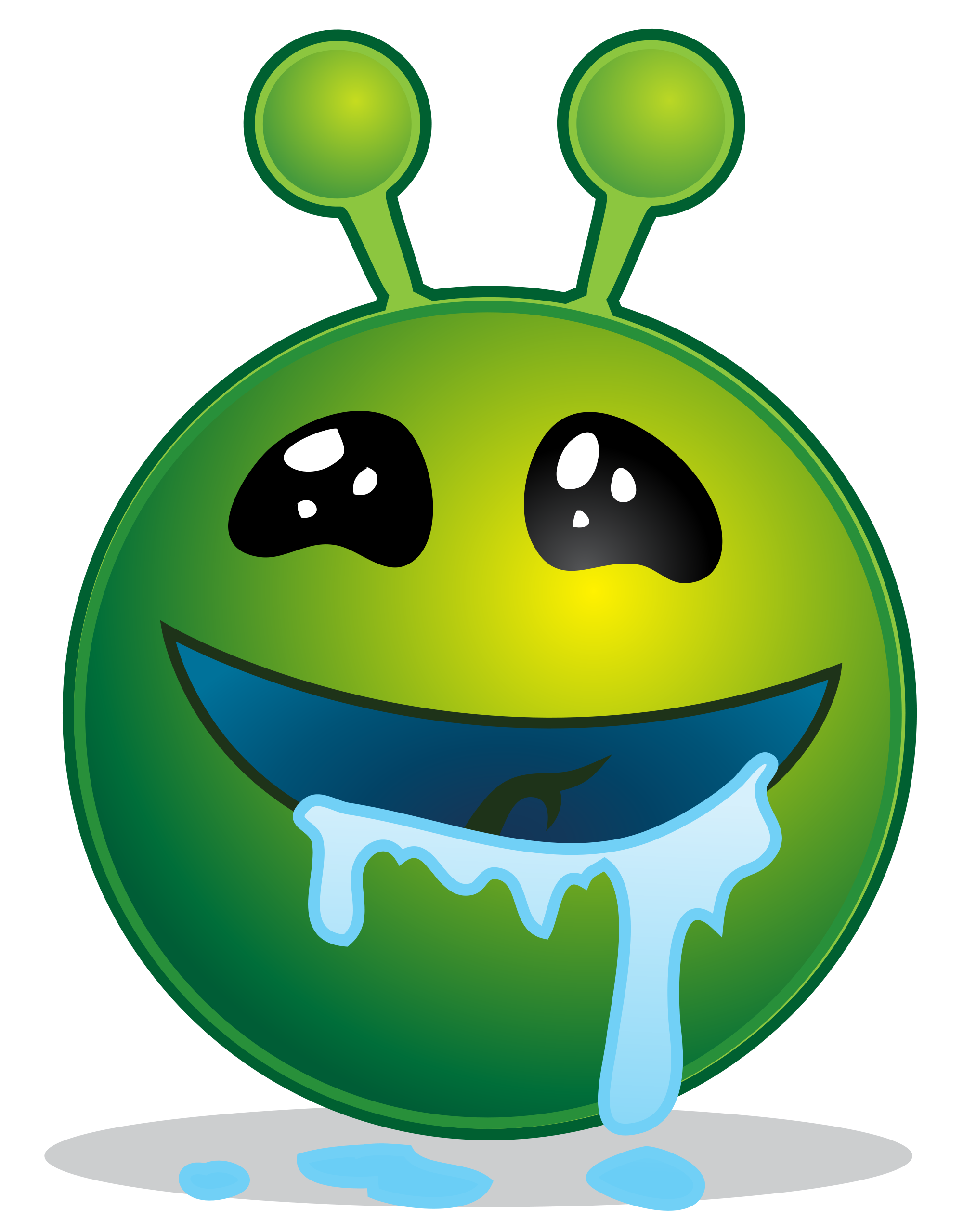 File smiley alien droling. Ufo clipart green