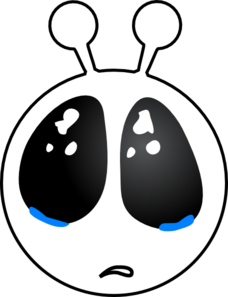 Alien clipart sad. Face clip art at