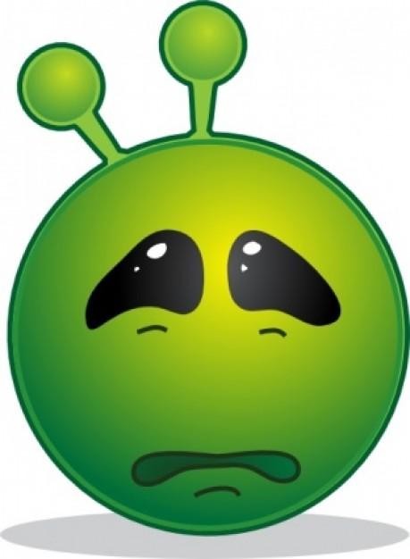 Alien clipart sad. Free clip art panda