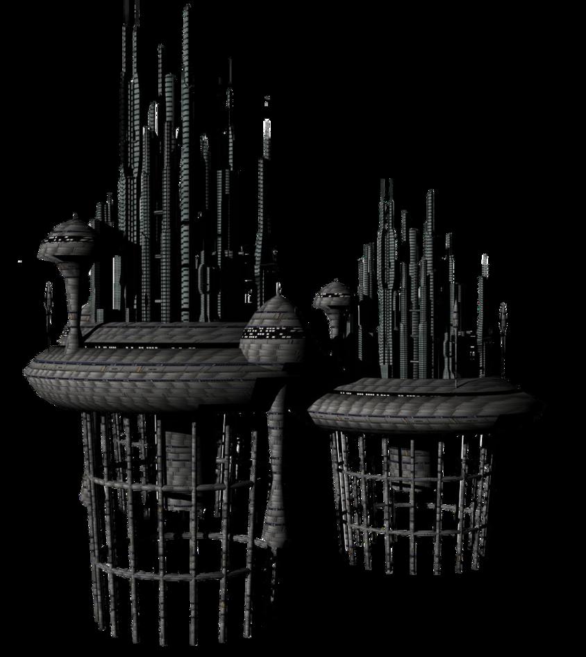 Building clipart alien. Sci fi fantasy by