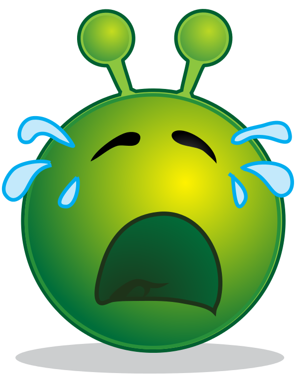 File smiley green alien. Cry clipart animated