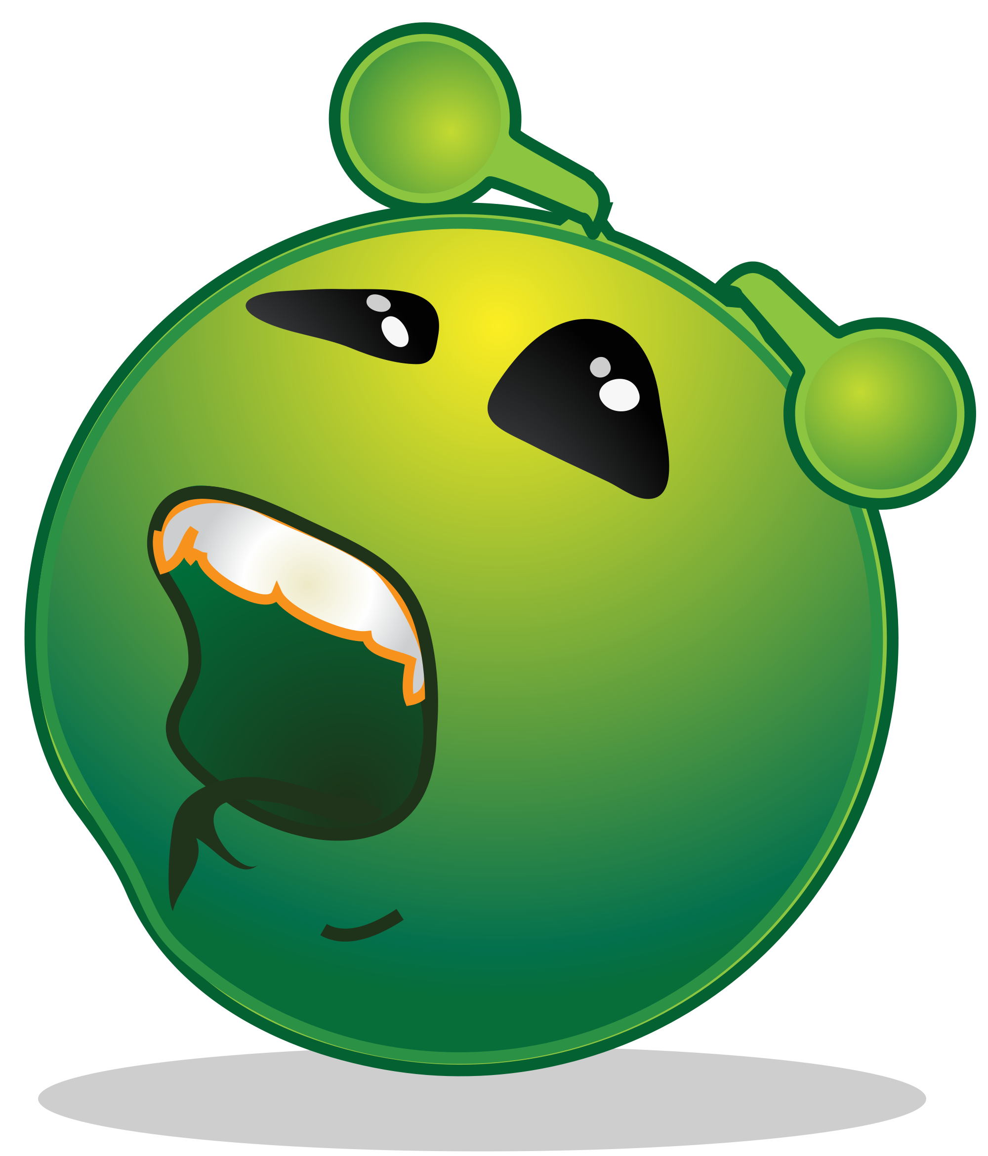 Working clipart bored. File smiley green alien