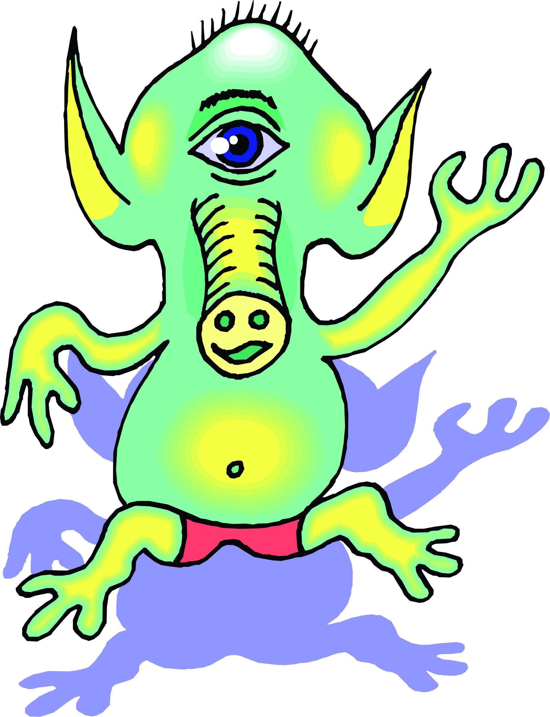 Cartoon aliens library. Alien clipart sick