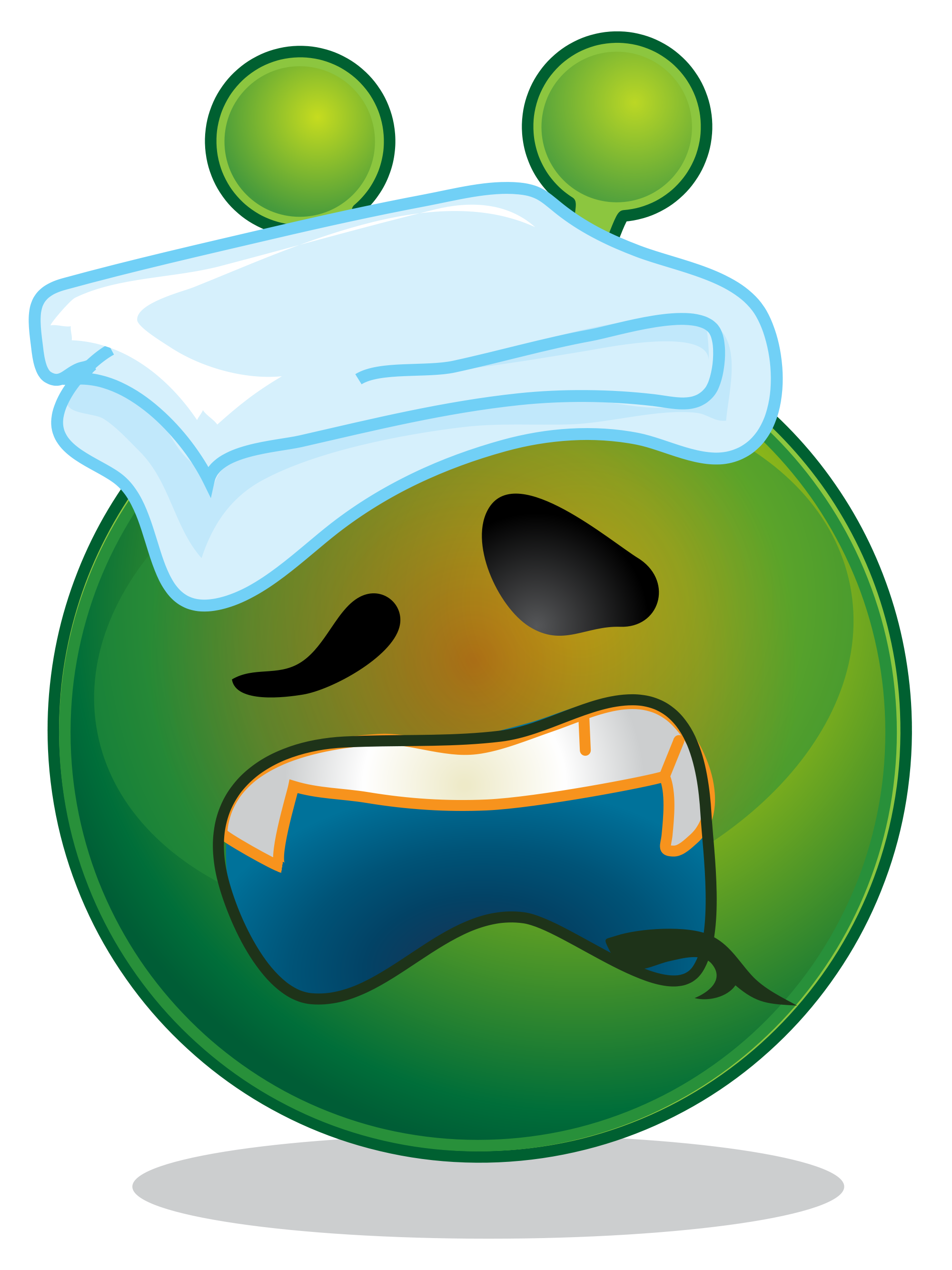 File smiley green alien. Emotions clipart surprised