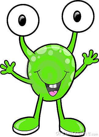 Cute alien . Aliens clipart friendly