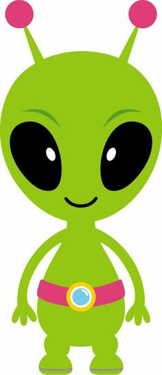 Alien clipart simple. Astronauts and ufo on