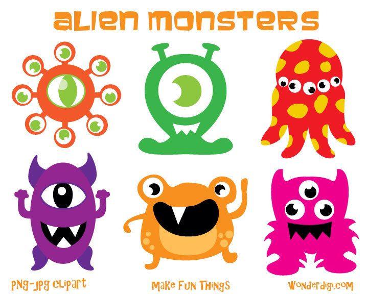 Monsters aliens clip art. Alien clipart spooky